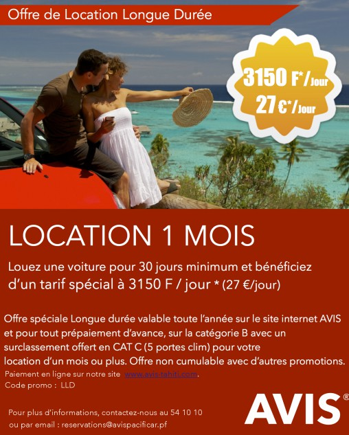 Offre Location 1 mois